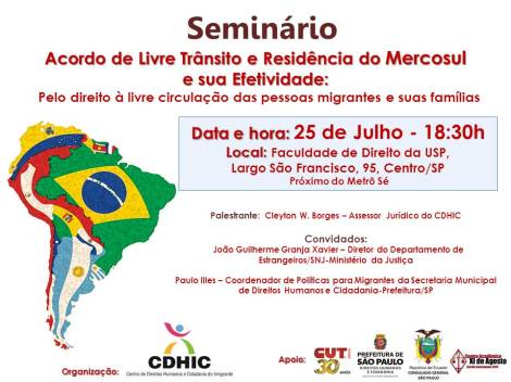 CONVITE Seminario sobre Mercosul e sua Efetividade